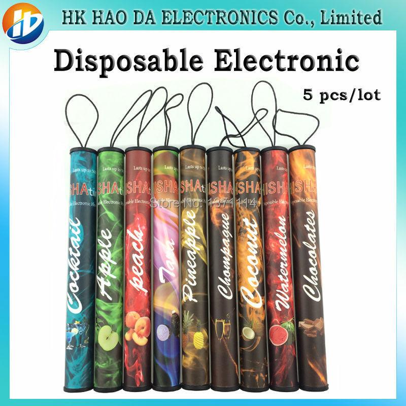 Disposable Electronic cigarette Square Smoke portable many flavor Disposable E cigarette e shisha Disposable E Hookah 5pcs/lot(China (Mainland))