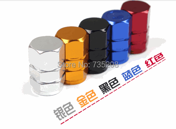 Five Colors option Top quality Car Auto Motorbike Aluminum Alloy Cover Tire Pressure Monitor Valve Stem Caps for Bike Motorcycle(China (Mainland))