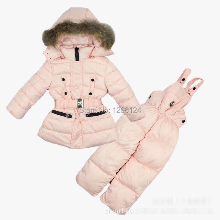Retail new baby girls winter jacket parkas down coat suits Ski suits snowboard wear/children snow wear /kids warm outdoor coats(China (Mainland))