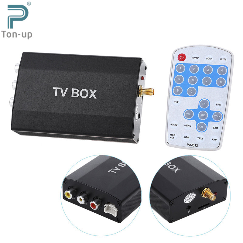 DVB-T Multi-channel Mobile Car Digital TV Box Mini Analog Tuner Signal Receiver with TV Antenna Remote Control for DVD Monitor(China (Mainland))