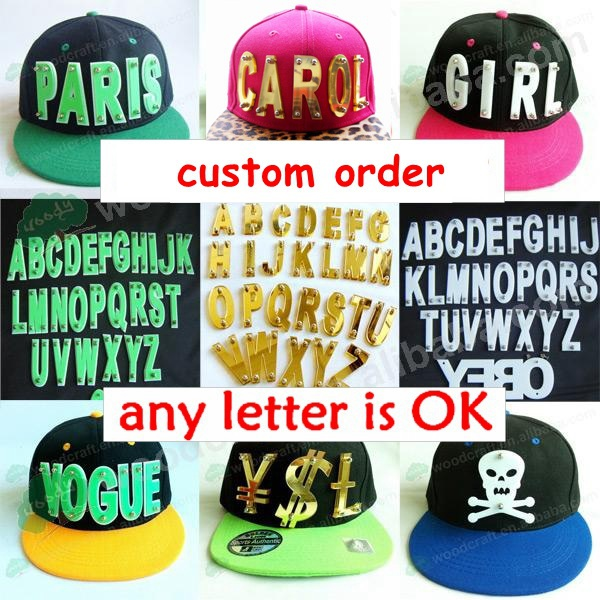 Hiphop 3D acrylic letters Bolted spikes rivets custom snapback fashion hats wholesale Adjustable Baseball Cap(China (Mainland))