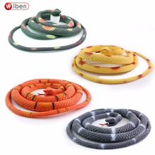 Buy Wiben Halloween Realistic Soft Rubber Snake Fake Animal Model 115CM Garden Props Joke Prank Gift Gags & Practical Jokes for $4.50 in AliExpress store
