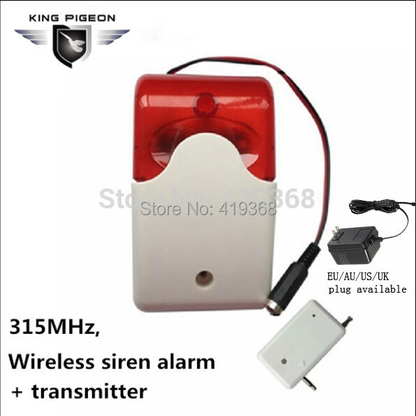 315Mhz Wireless Alarm Flash Light GSM Strobe Siren+12v AC to DC Adaptor for Alarm Systems Security Home SR-60 Factory Sale(China (Mainland))