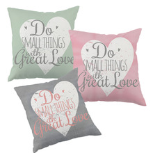 Do Small Things With Great Love Heart cushion cover