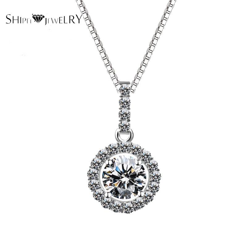 Handmade Jewelry!SHIPEI 2016 European 18K Gold Plating with Luxurious Round Imitation Diamond Woman Necklace,Carat Weight:2.00(China (Mainland))