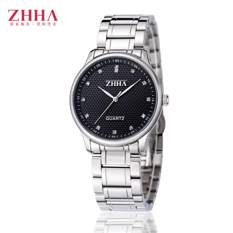ZHHA Couple Lovers Watches Women Gold Watch Men Top Brand Lxury Famous Wristwatch Male Female Clock Golden Quartz Wrist Watch