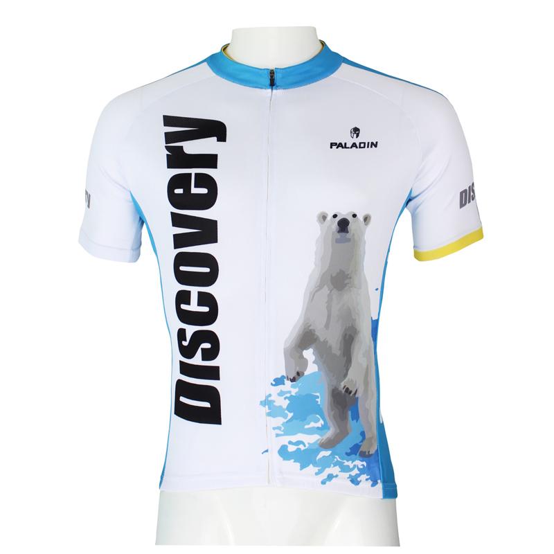 Fashion Outdoor PALADIN Men Bike Jersey White Polar bears Pro MTB Cycling Jersey Short Sleeve Sports Wear Cycling Top summer(China (Mainland))