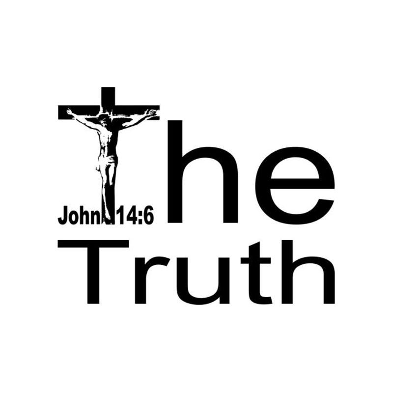 product The Truth English Letter Cross Wall Stickers Vinilos Decorativos Jesus Christ  Home Decor Adesivos De Parede Decoracao De Casa