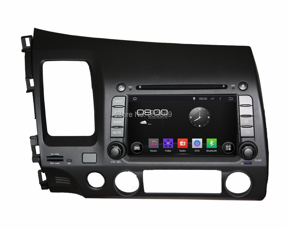 Quad Core HD 2 din 7 inch Android 5.1 Car DVD GPS Navi HONDA CIVIC (left) 2006-2011 PC 3G/WIFI BT IPOD TV Radio AUX IN - Cool Auto AV store