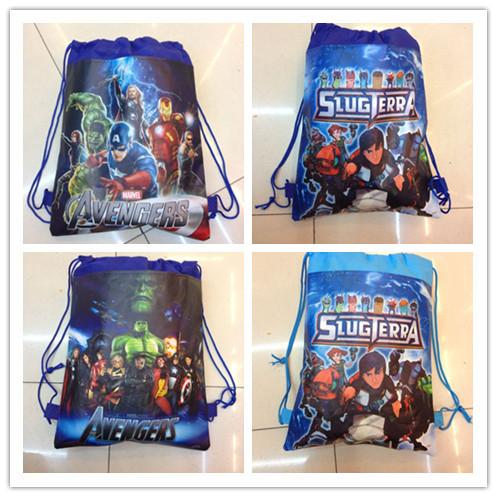 Wholesale 24pcs Cartoon Avengers Fashion shoe bag, shoe pouch, gift bag, drawstring bag schoolbag shoulderbag(China (Mainland))