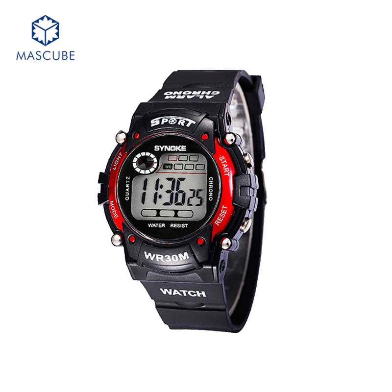[MASCUBE]Children Boys Sports Watches 30M Waterproof Dress Watch Outdoor Digital Student Wristwatches Student Hours Clock(China (Mainland))