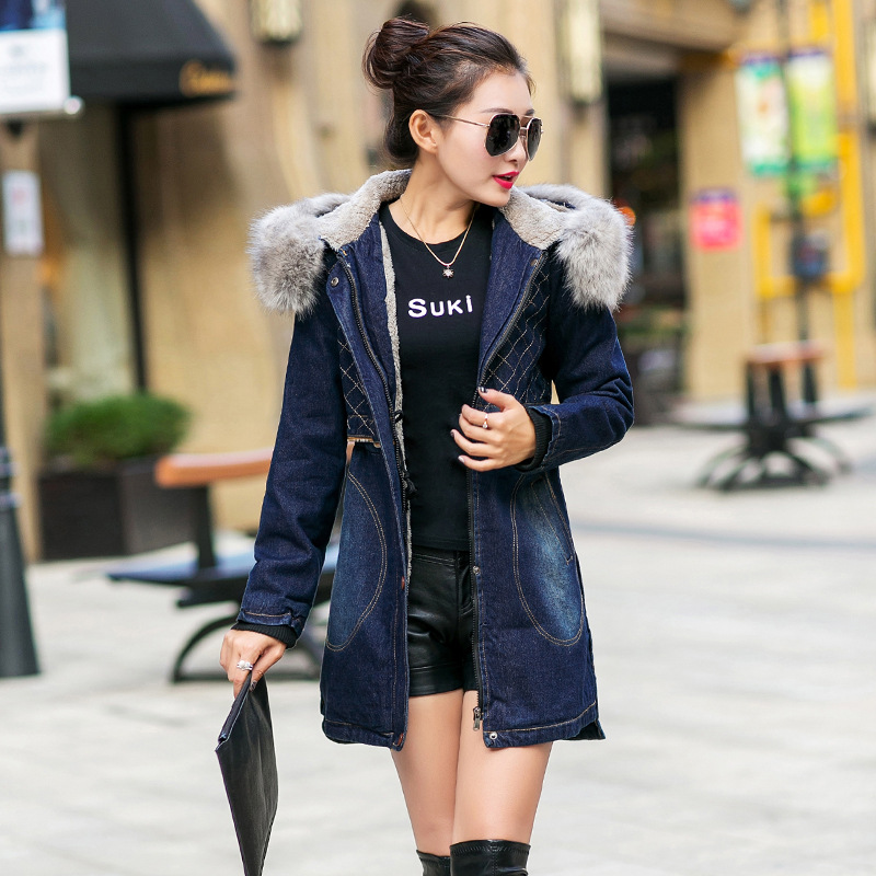 New Winter Woman Coat Parka Casual Outwear Fashion Hooded Coat Denim Jacket Women Cotton Coats Womens Clothing Manteau FemmeОдежда и ак�е��уары<br><br><br>Aliexpress