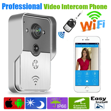 2015 Hot HD 720P Wifi Doorbell Camera Wireless Video Intercom Phone Control IP Door Phone Wireless Door bell  IOS Android