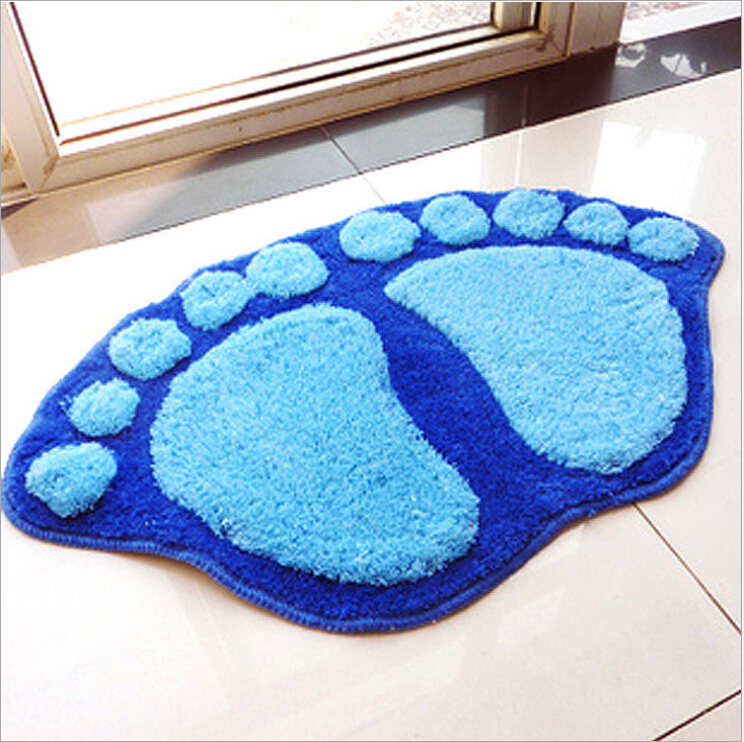 Sitting room sofa tea table carpet bedroom bathroom door mat mat bibulous lovely big foot mat(China (Mainland))