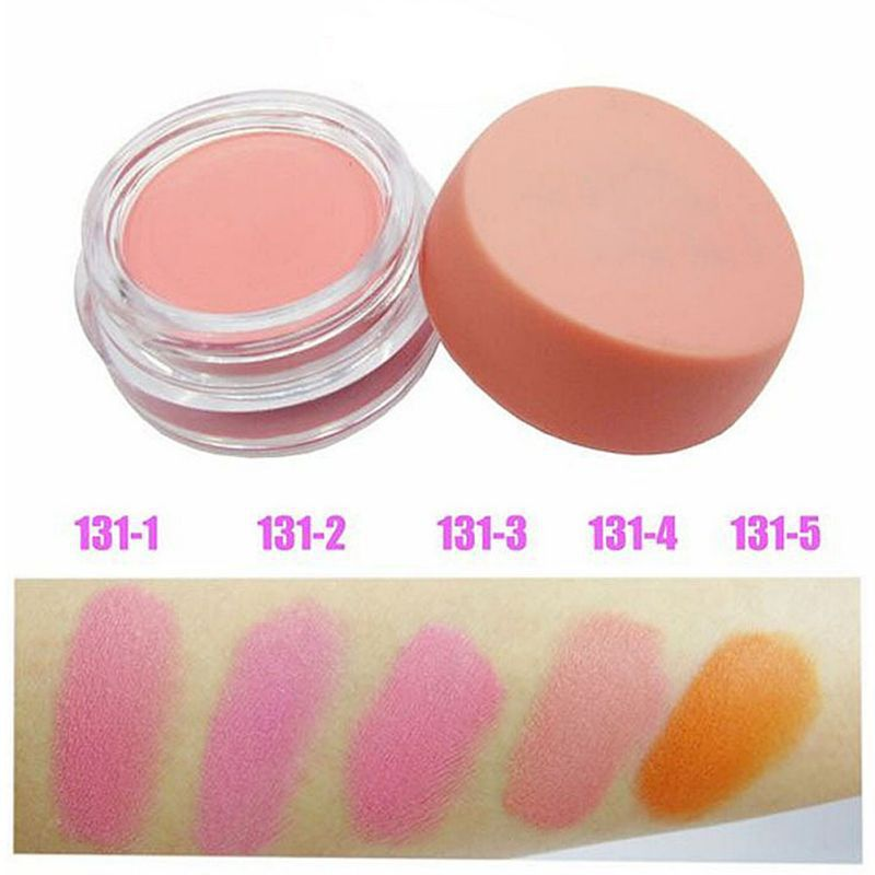 Soft Solid Color Cheek Blusher Palette Natural Blush Powder Cosmetics Makeup
