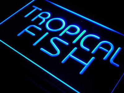 j435-b Tropical Fish Shop Display Lure LED Neon Light Sign Wholesale Dropshipping(China (Mainland))