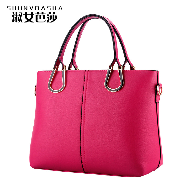 2016 Fashion Solid Famous Designers Brand Women Handbags Shoulder Messenger Bags Luxury Top-handle Ladies Versatile Handbags(China (Mainland))