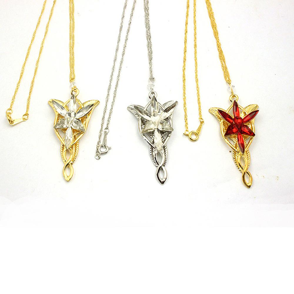 W0454 Wholesale price 48pcs/lots Movie Arwen Evenstar Necklace Silver/Gold Necklace,Movie Jewelry(China (Mainland))