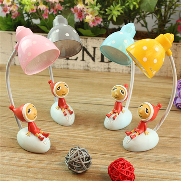 Holliday Lamp Cartoon Shape Mini Flexible LED Book Light Adjustable Hose Portable Lovely Desk Table Lamp Gift for Children(China (Mainland))
