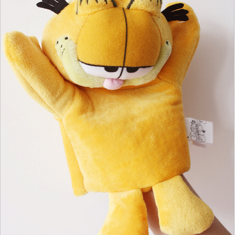 24cm Cute Garfield Hand Puppet for Children Education and Family Party(China (Mainland))