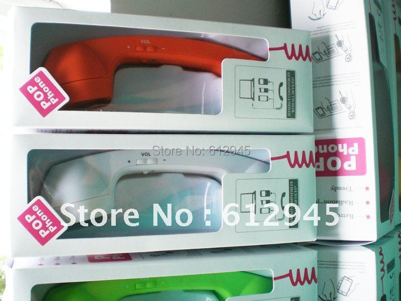 Colorful Cheap Anti-Radiation Retro Mobile Phone Handset for iPhone(China (Mainland))