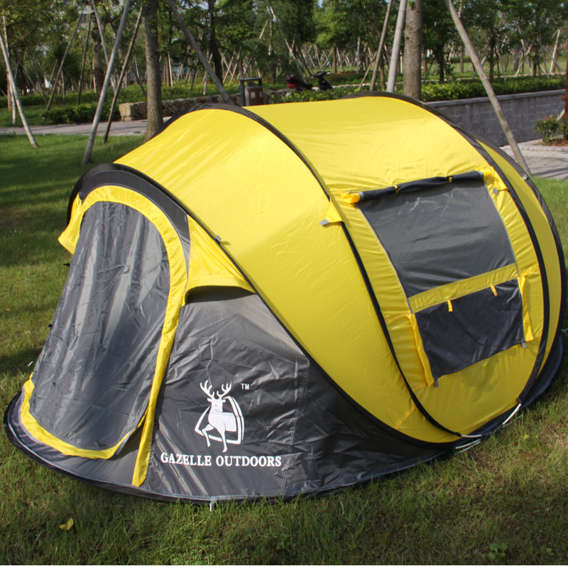 STAR HOME large space pop up ,throw tent 3-4persons automatic speed open throwing pop up wind& waterproof beach camping tent(China (Mainland))