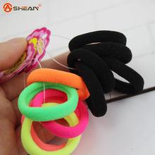 5 pcs / lot Scrunchy Trumpet Child Girl Hair Holders Rubber Bands Hair Elastics Accessories Seamless High Elastic Hair Ring