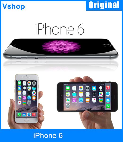 Unlocked Original iPhone 6 16GB 64GB 128GB 1GBRAM Smartphone 4 7 iOS A8 Dual Core 1