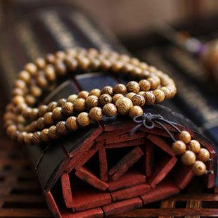 Hot! Fashion Vintage Wenge Natural Wood 6MM Beads Stretch Wooden Bracelet Men handmade 108 Buddha Bracelets & Bangle Gift Charm(China (Mainland))