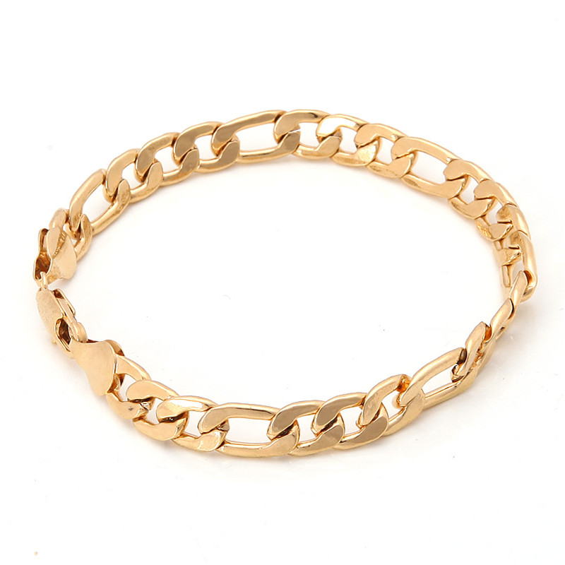 Bright 18K Solid Yellow Gold Filled Men's Bracelet Chain 19.8g B120(China (Mainland))