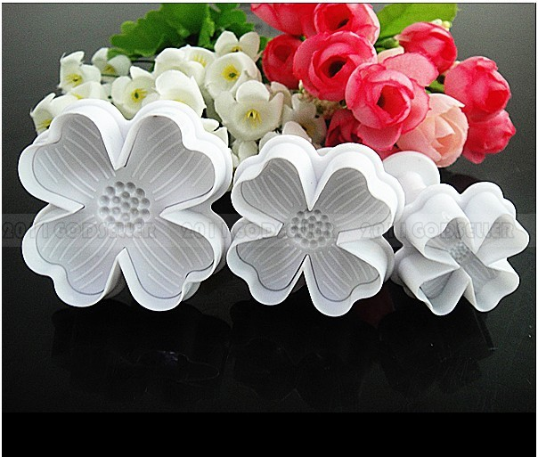 cortador embolo floral Flower Fondant Cake Sugarcraft Decorating Cookie Mould Mold Plunger Cutter Tool galletas embolo 01097(China (Mainland))
