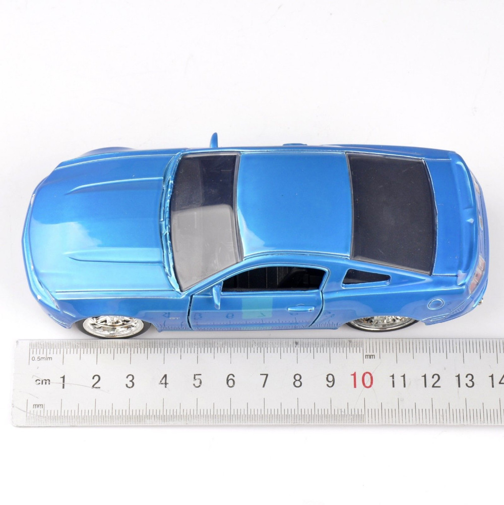 Collectible Gift Jada Car 1/32 Scale Diecast Car Model Blue 2010 Ford Mustang GT Car Model Kids Toys Gift(China (Mainland))