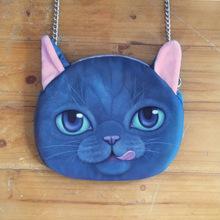2015 fashion New Designed High quality Synthetic leather Cartoon 3D Animal Printing Female Shoulder Bags cat Shape Women Handbag