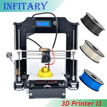 Newest Size 210*210*210mm High Quality  Precision LCD Reprap Prusa i3 DIY 3d Printer kit with 1Roll Filament 8GB SD card