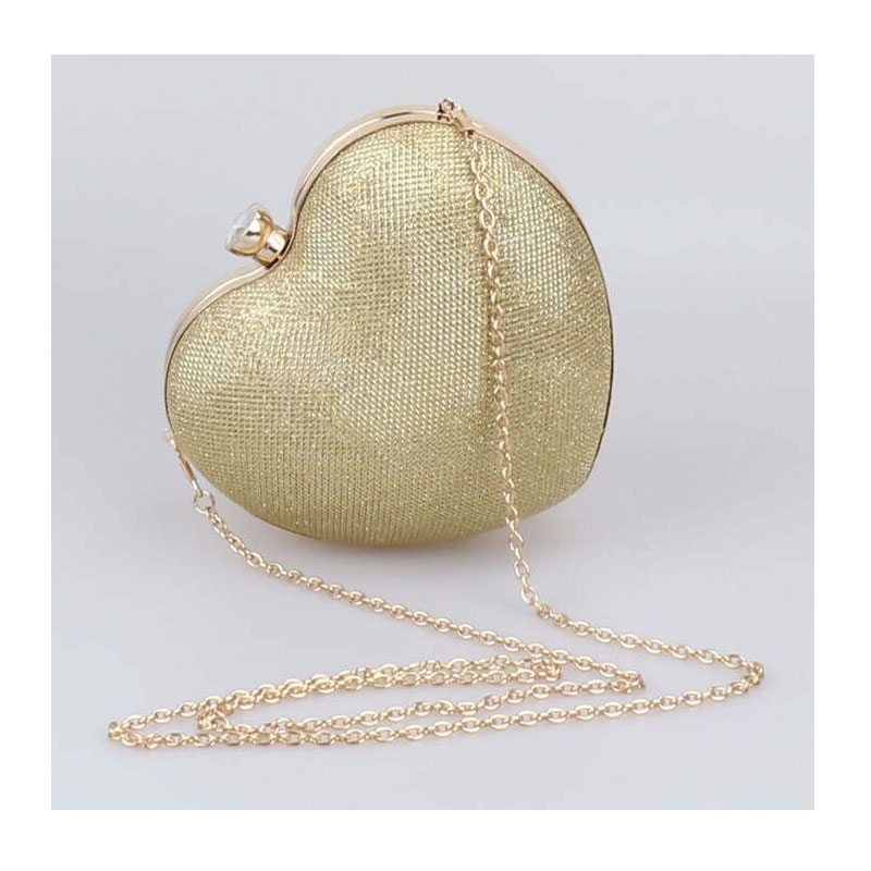 Evening Bag Luxury Heart Ladies Gold Clutch Purse Wedding Dinner Party Women Wallet Silver Pochette Marriage Bolso mujer XA1069B<br><br>Aliexpress
