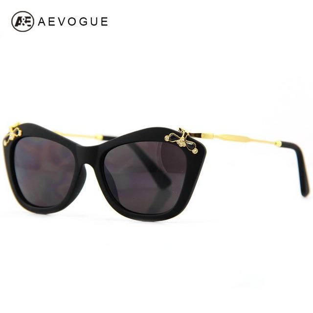 Aevogue группа дизайн очки женщины бабочка бриллианты искусственные украшения солнцезащитные очки Gafas óculos де золь UV400 AE0118