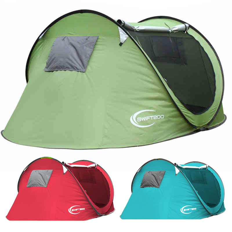 3-4 Double Automatic Tent Outdoor Tent Camping 2 Person Family Tent Field Driving A Second Open Fashion Bright camping ZP065(China (Mainland))
