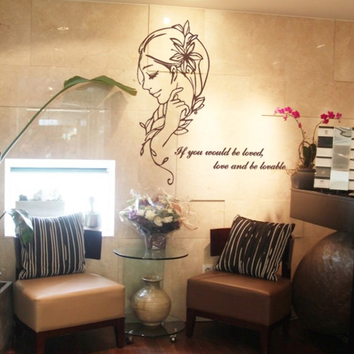 Wall Decor Ideas For Spa : Free shipping hot sexy girl lady hair spa nail beauty