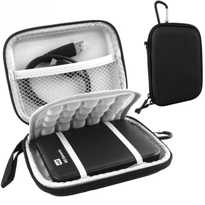 Top Quality Protective Hard Shockproof Bag Case for 2.5 inch Western Digital WD 1TB 2TB USB 3.0 External Hard Drive