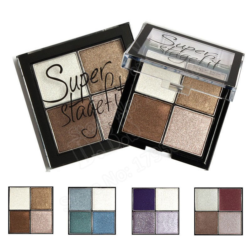 4 Color High Pigment Eyeshadow Makeup Palette Mineral Glitter/Matte Eye Shadow Make Up Pallete(China (Mainland))