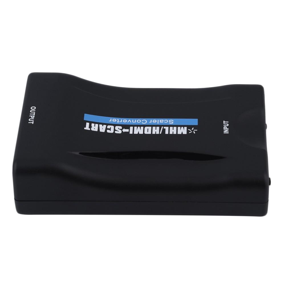 YHX In stock! HDV-60S Mini MHL/HDMI to SCART Video Converter Scaler for TV Smartphone UK Plug