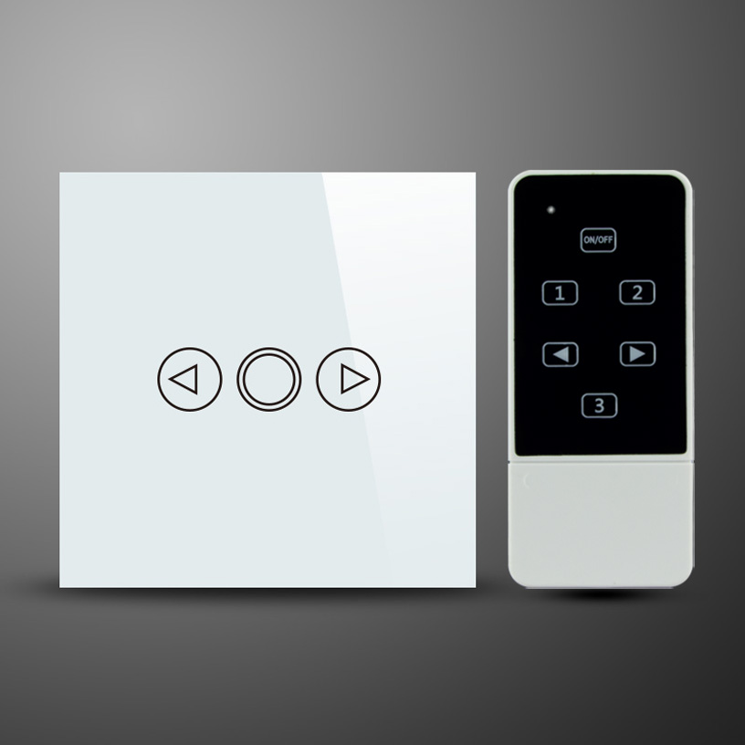 EU Style Touch Glass and Remote Control Light Dimmer Switch , 1 Gang 1 Way Touch Screen Dimmer Wall Switch , RF 433Mhz<br><br>Aliexpress