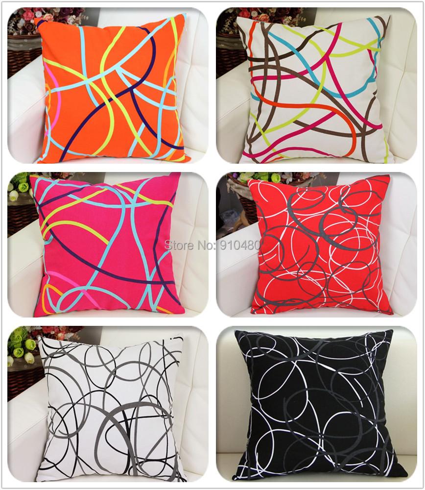 Canvas cushion cover 100 cotton sofa cushion covers for 6 cushion sofa covers
