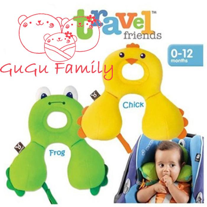 Benbat Travel Friends Baby Total Support Headrest 0-12 months 1-4 years Cartoon Animal Design baby/child Neck Pillow U Pillows(China (Mainland))