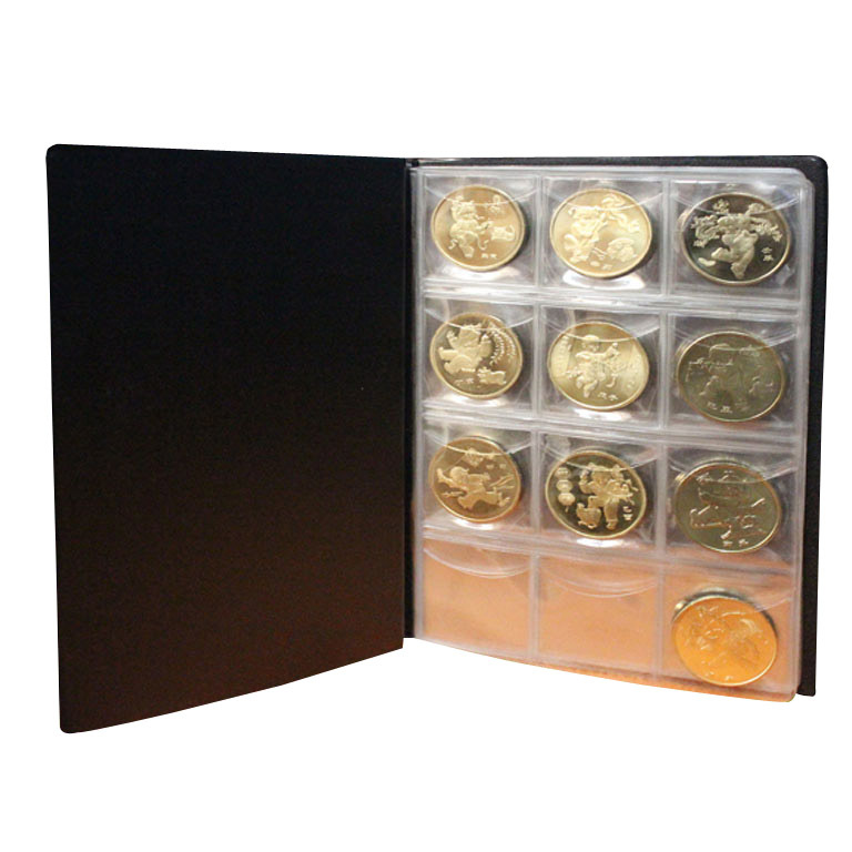 Random Color!! Hot Selling 120 Coin Holders Collection Storage Penny Money Pockets Album Book Collecting(China (Mainland))