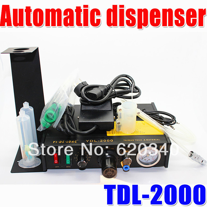 Free Shipping NEW YDL-2000 Semi-automatic Glue Dispenser/ plastic injection machine AB/UV/ SMT Solder Paste/Liquid Controller(China (Mainland))