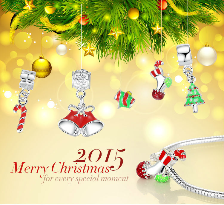 925 Silver Jingling Bell,Cane,Christmas Tree,Stocking Pendant Charm Fit Bracelet Necklace Pingente Accessories(China (Mainland))