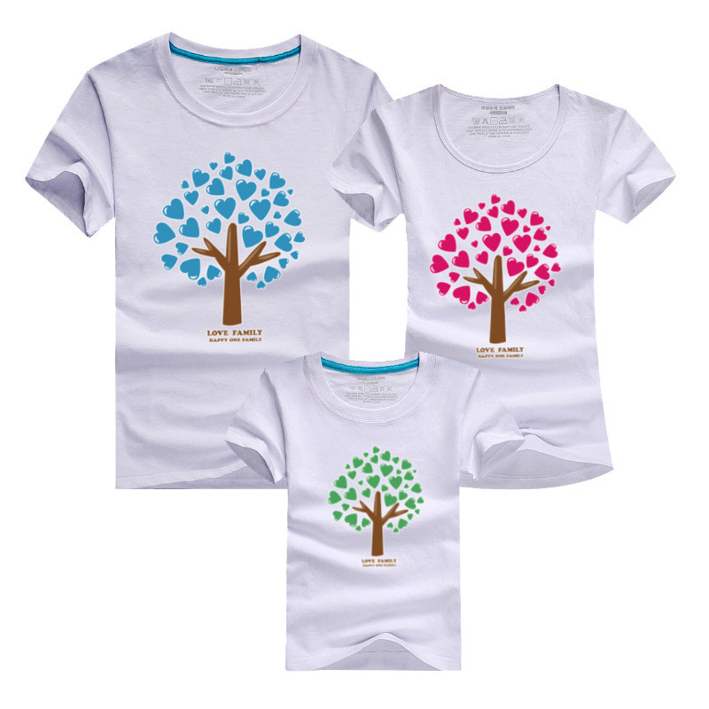 1psc Cartoon The Giving Tree Print Women Men Children Boy Girl Tshirt font b Family b