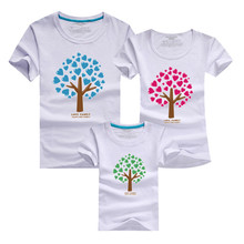 1psc Cartoon The Giving Tree Print Women Men Children Boy Girl Tshirt Family Matching Outfits Mother Father Son Daughter 9 Color