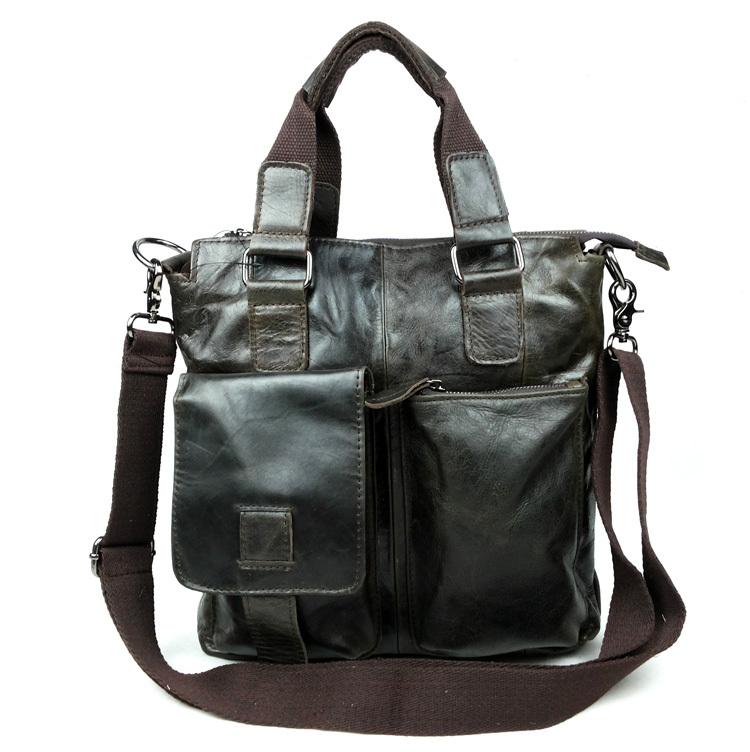 Maxdo Promotion High Quality 100% Guarantee Real Genuine Leather Cowhide Men Messenger Bags Briefcase Portfolio #M259(China (Mainland))